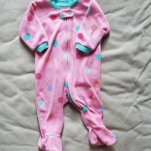 3-6 month fleece footie pajamas.
